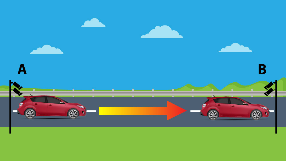 Nova tecnologia permite multar motoristas por exceder a Velocidade Média