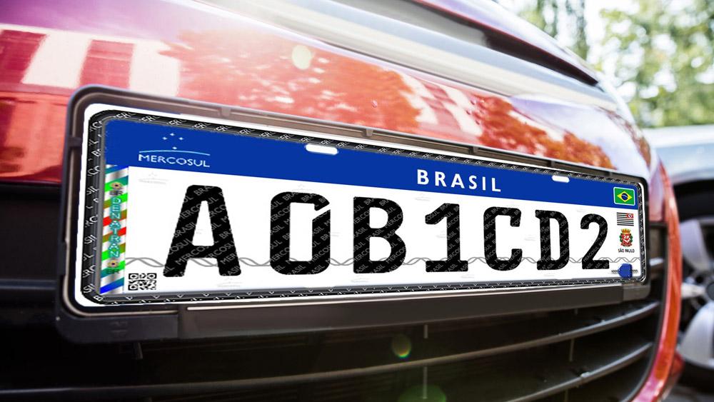 Novas placas de veículos no padrão Mercosul
